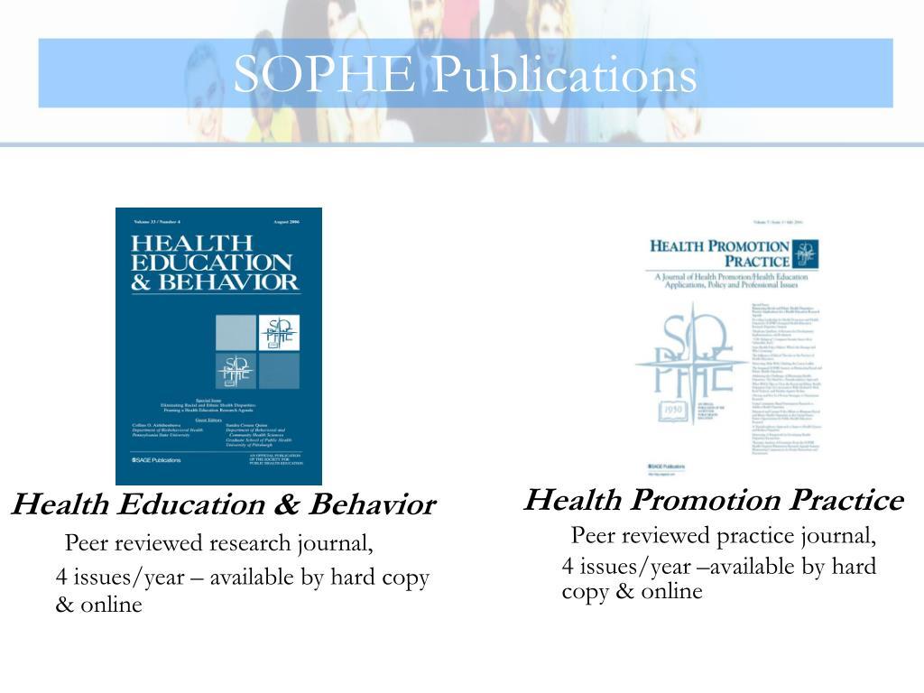 SOPHE Publications
