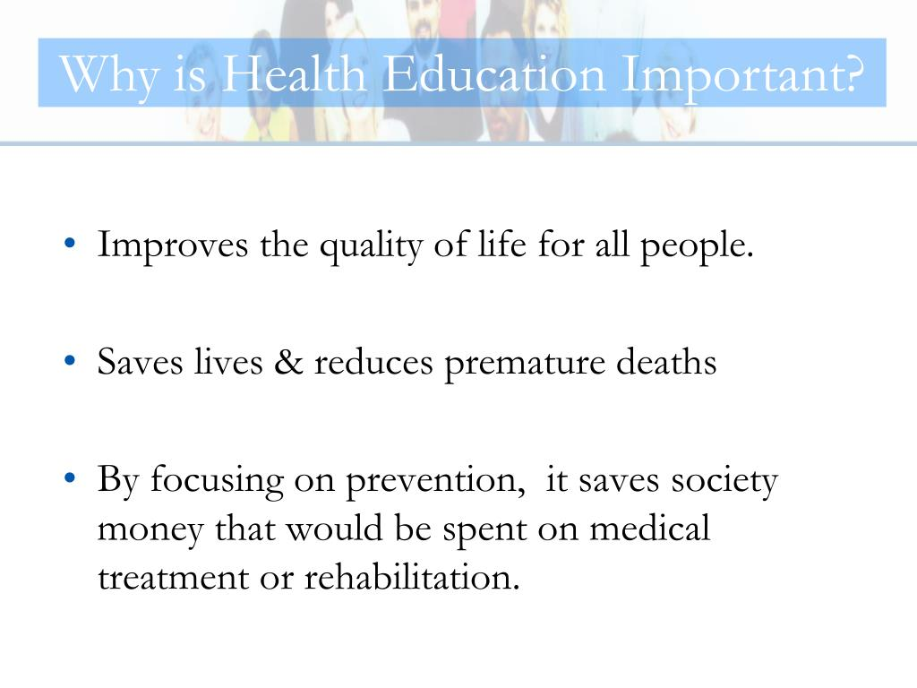 Why is Health Education Important?