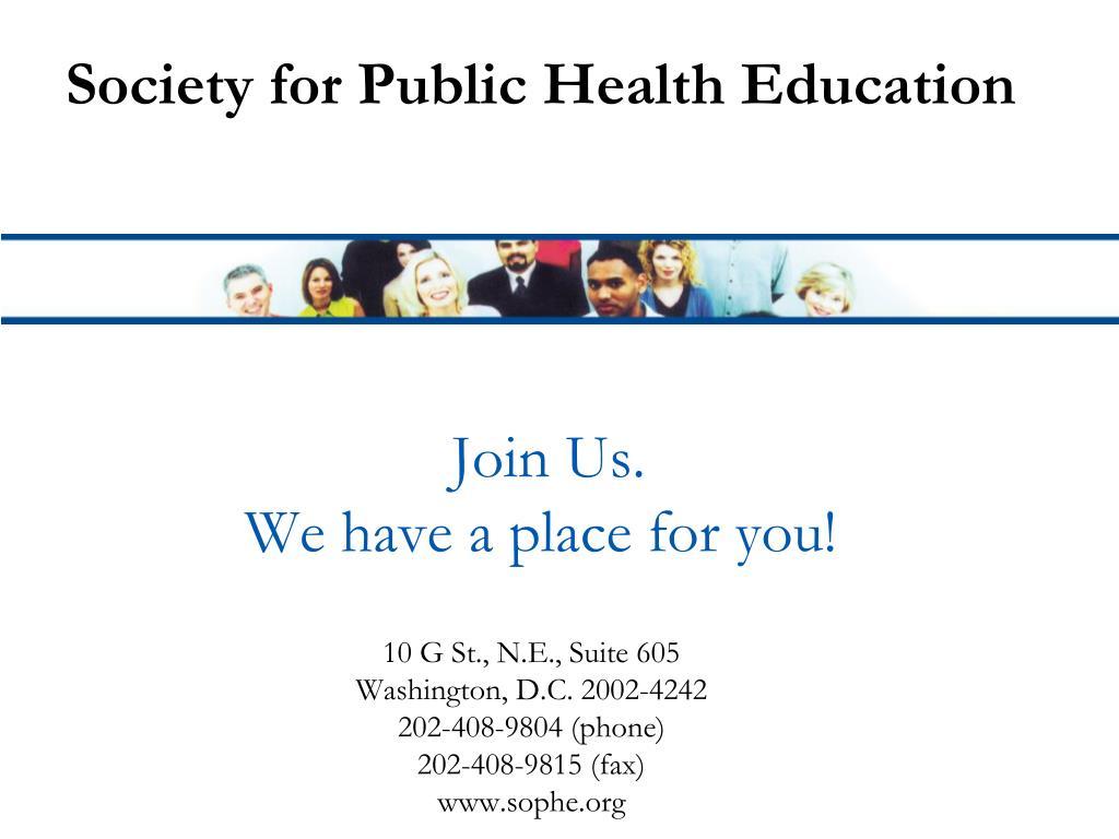 Society for Public Health Education