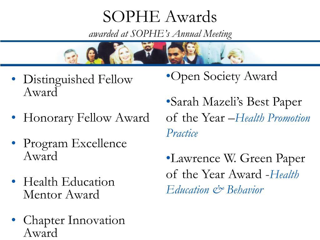 SOPHE Awards