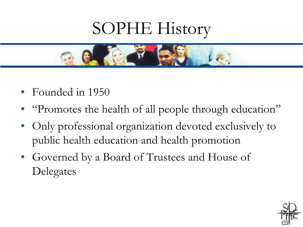 SOPHE History