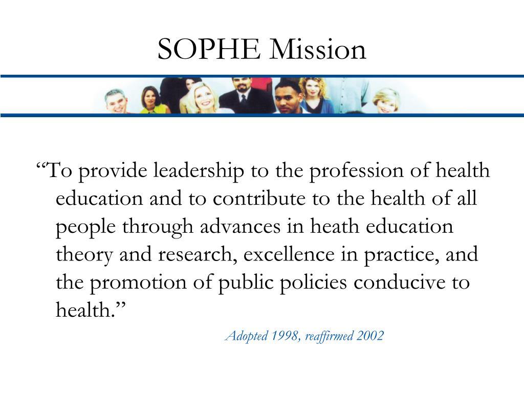 SOPHE Mission
