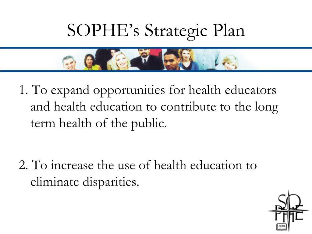 SOPHE's Strategic Plan