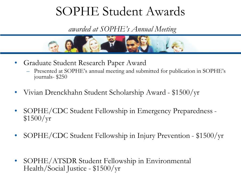 SOPHE Student Awards