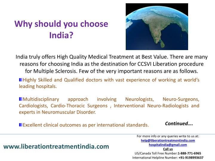 Why should you choose India?