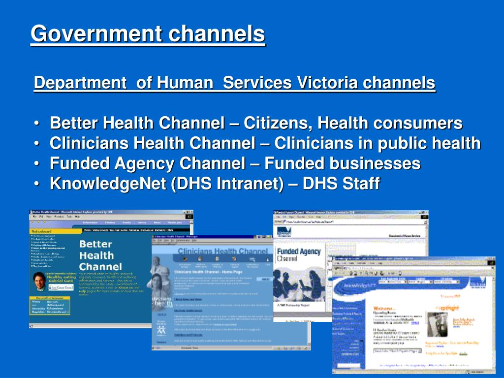 Government channels
