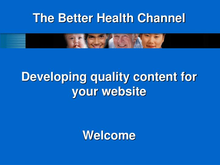 The Better Health Channel