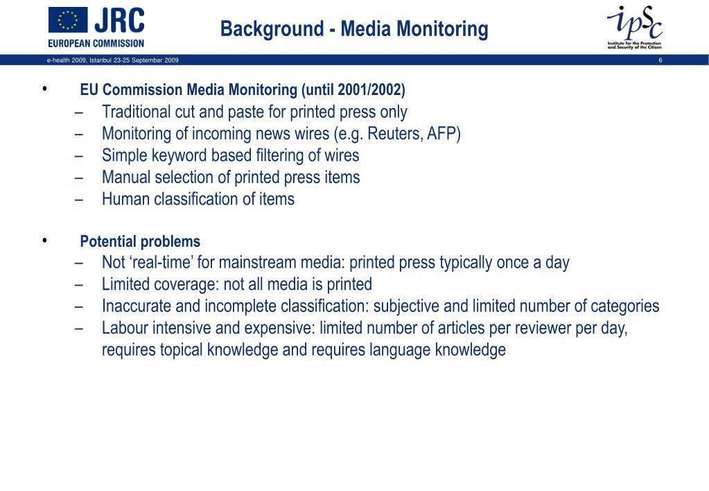 Background - Media Monitoring