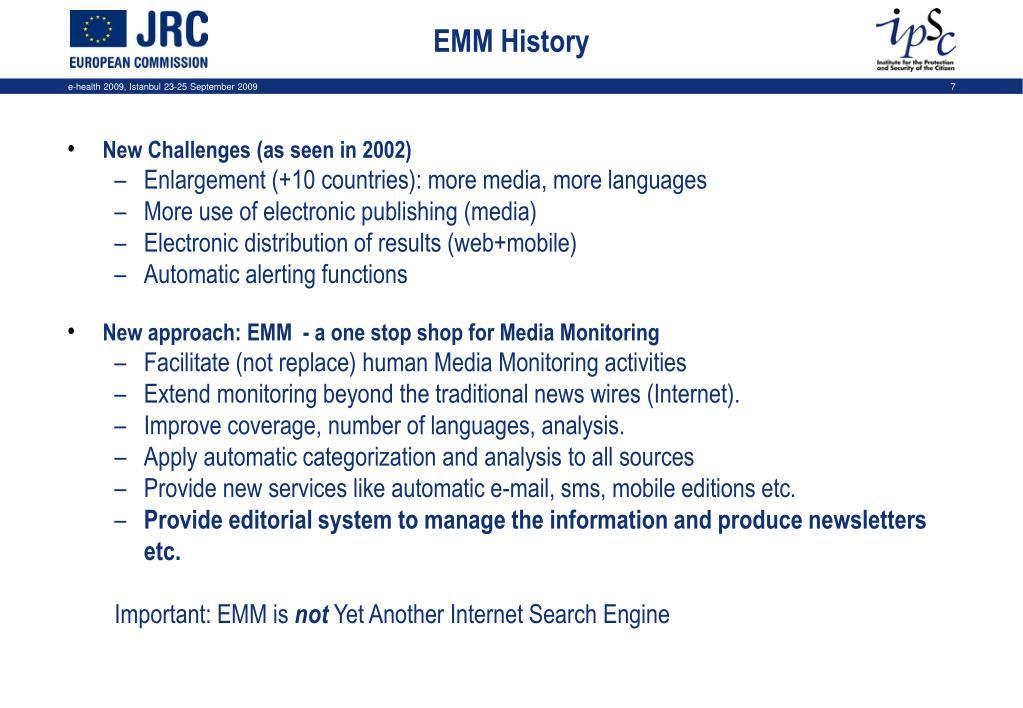 EMM History