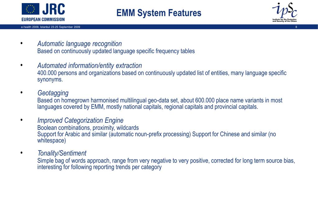 EMM System Features