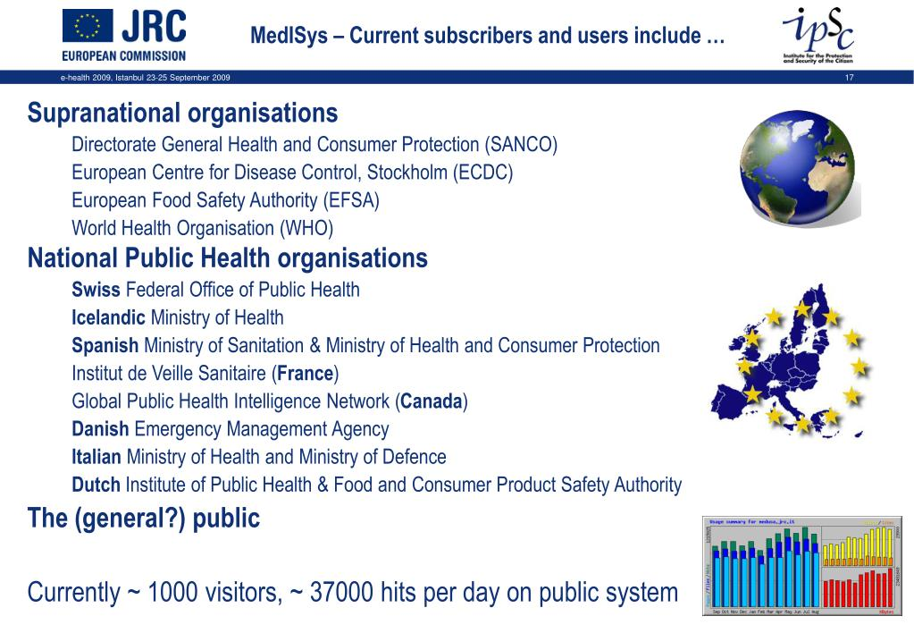 MedISys – Current subscribers and users include …