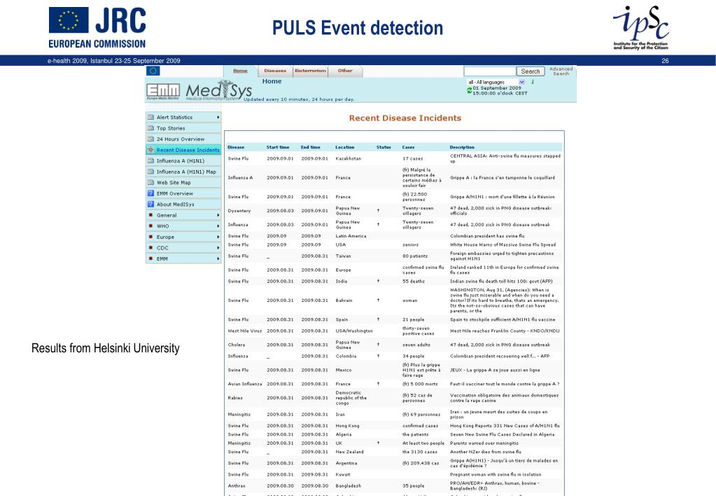 PULS Event detection