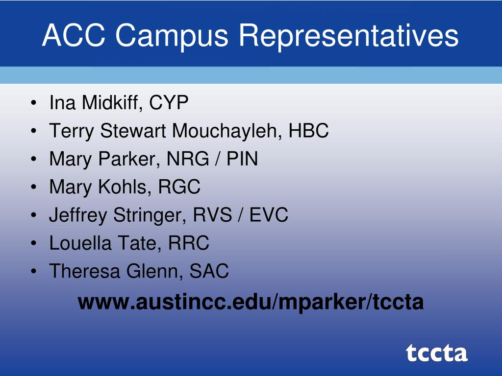 ACC Campus Representatives