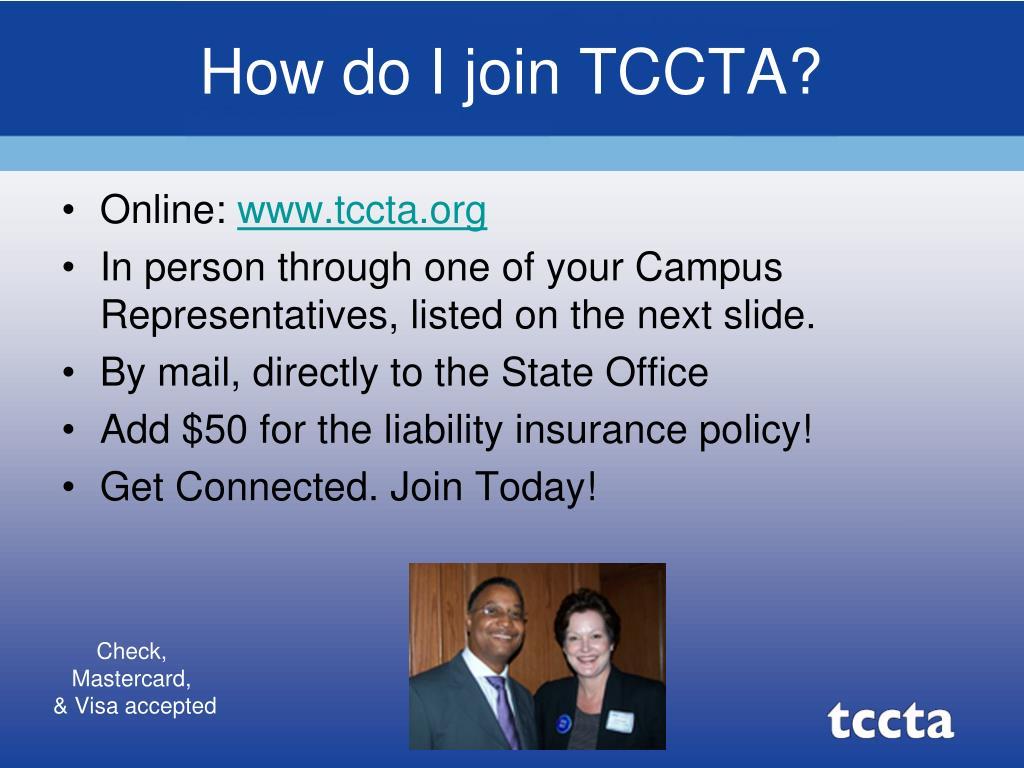How do I join TCCTA?