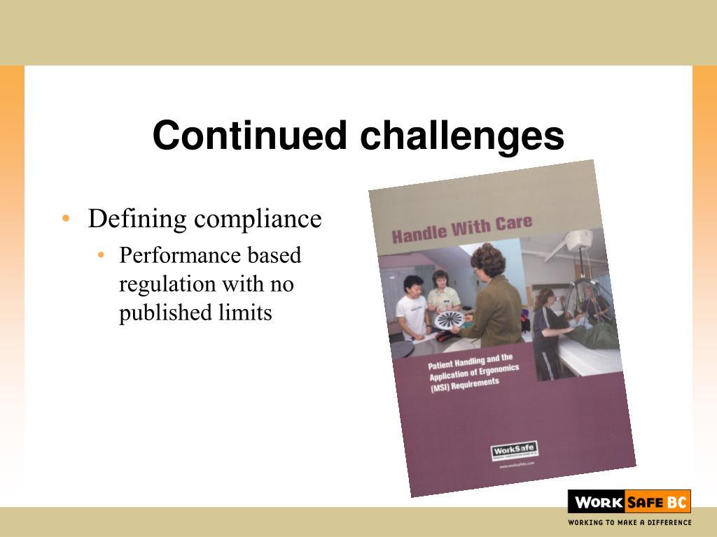 Defining compliance