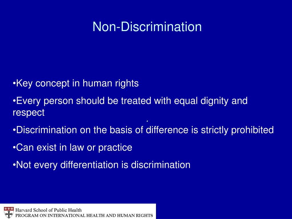 Non-Discrimination