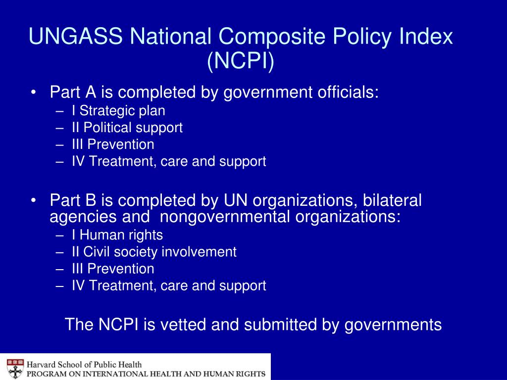 UNGASS National Composite Policy Index (NCPI)