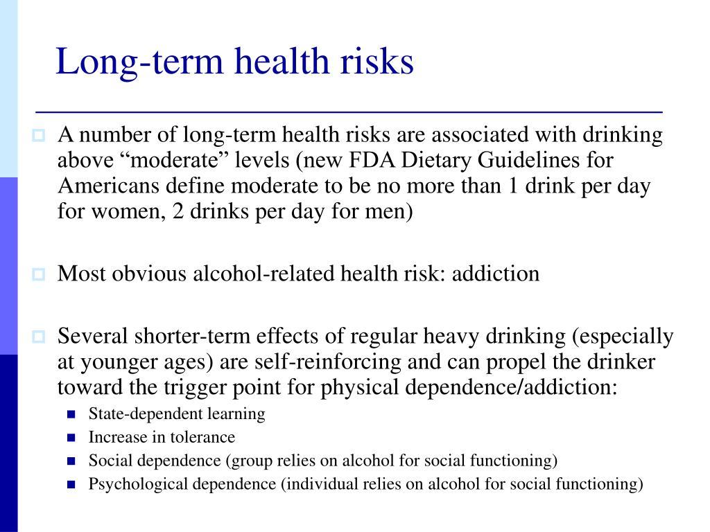 Long-term health risks
