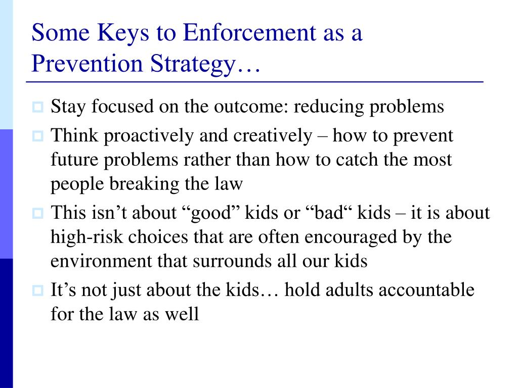 Some Keys to Enforcement as a