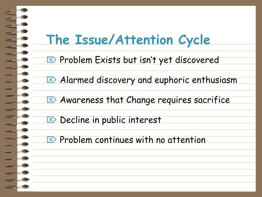 The Issue/Attention Cycle