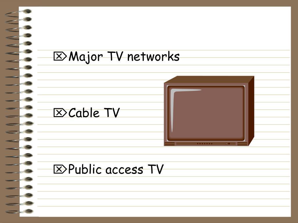 Major TV networks