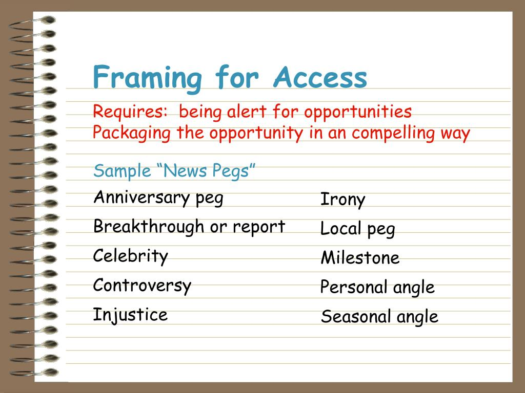 Framing for Access