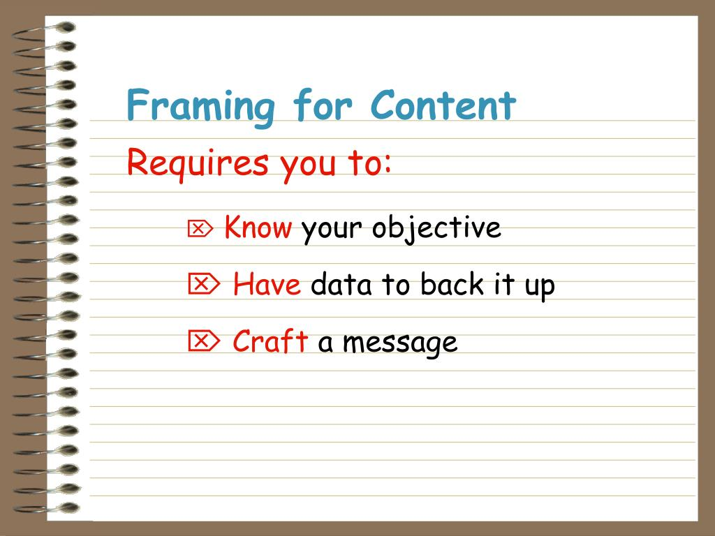 Framing for Content