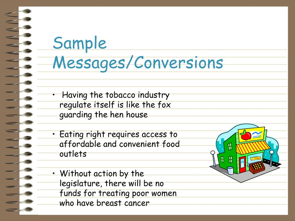 Sample Messages/Conversions
