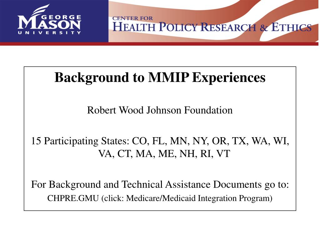 Background to MMIP Experiences