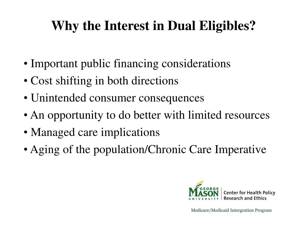 Why the Interest in Dual Eligibles?