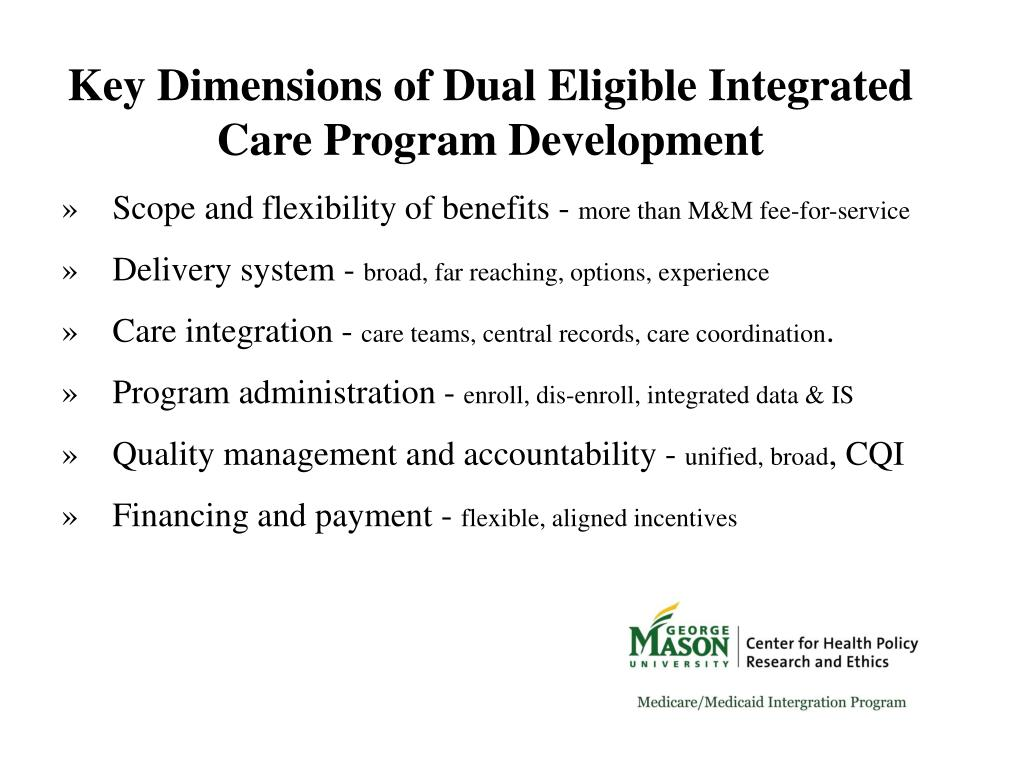 Key Dimensions of Dual Eligible Integrated Care Program Development