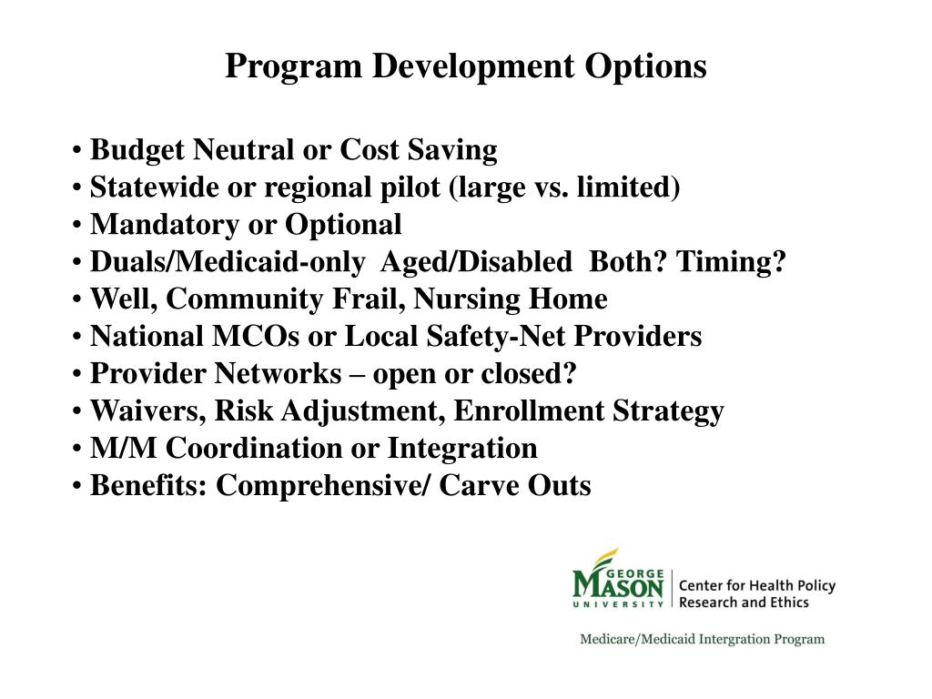 Program Development Options