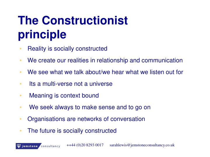 The Constructionist principle