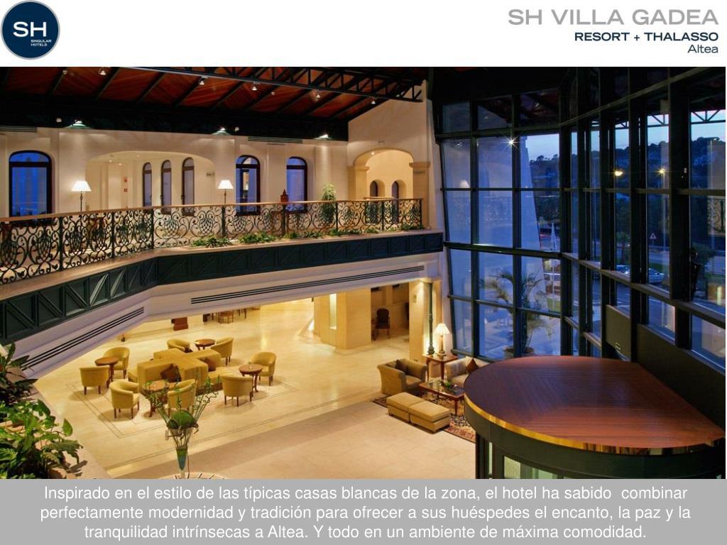 Inspirado en el estilo de las típicas casas blancas de la zona, el hotel ha sabido