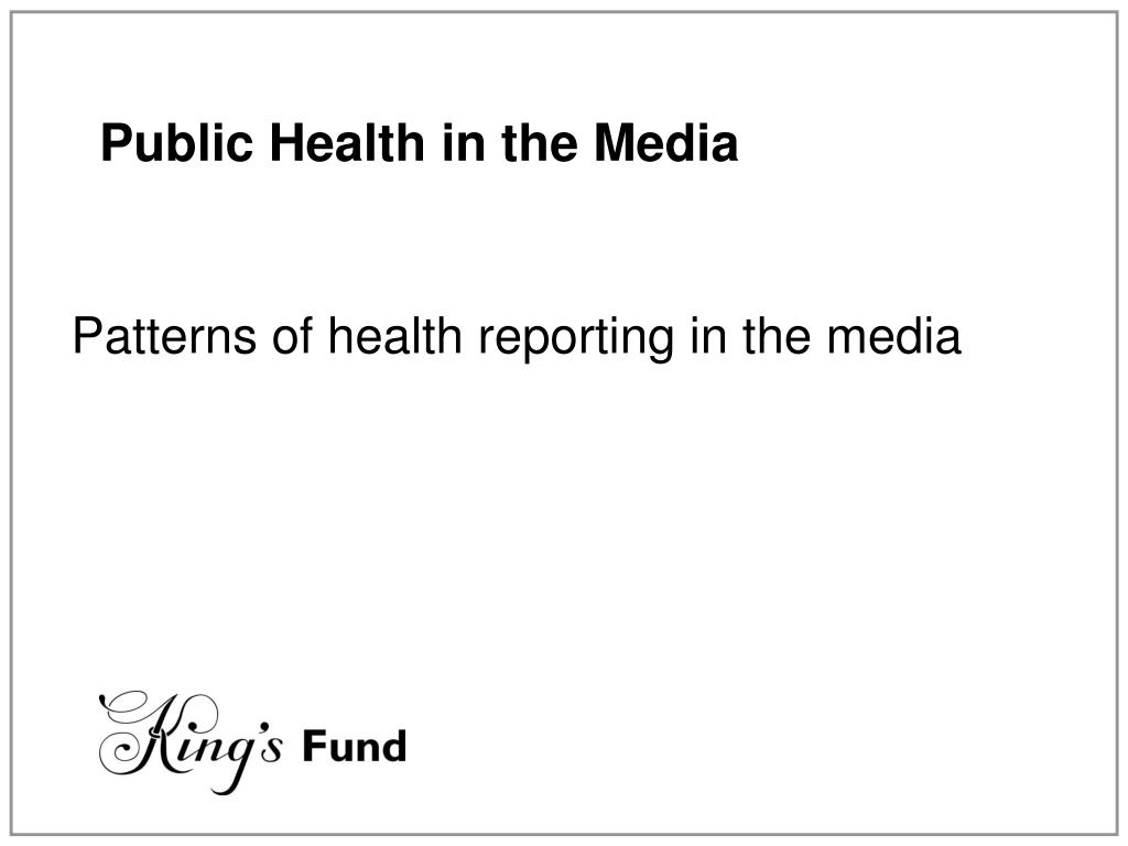 Public Health in the Media