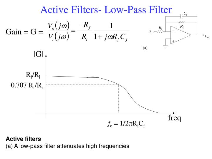 Active Filters- Low-Pass Filter