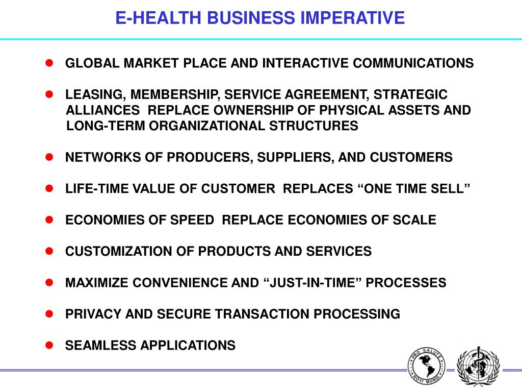 E-HEALTH BUSINESS IMPERATIVE