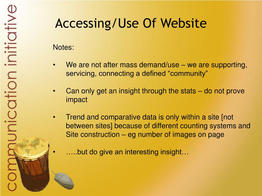 Accessing/Use Of Website