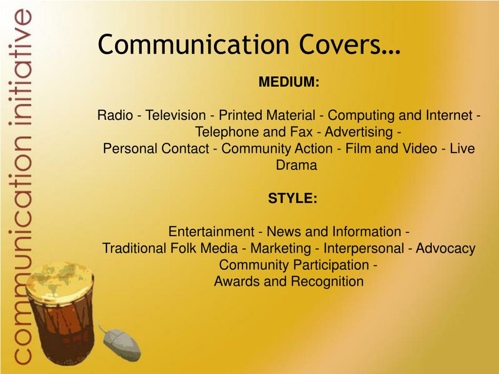 Communication Covers…