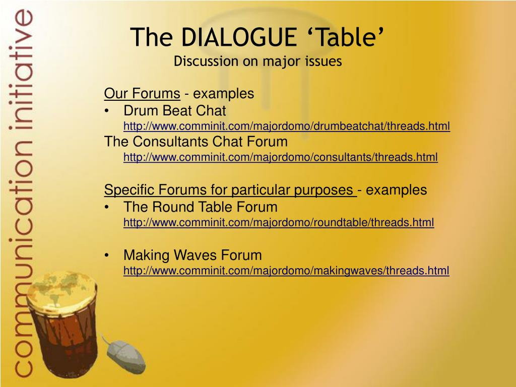 The DIALOGUE 'Table'