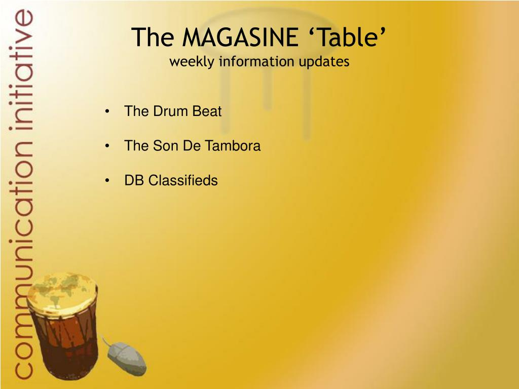 The MAGASINE 'Table'