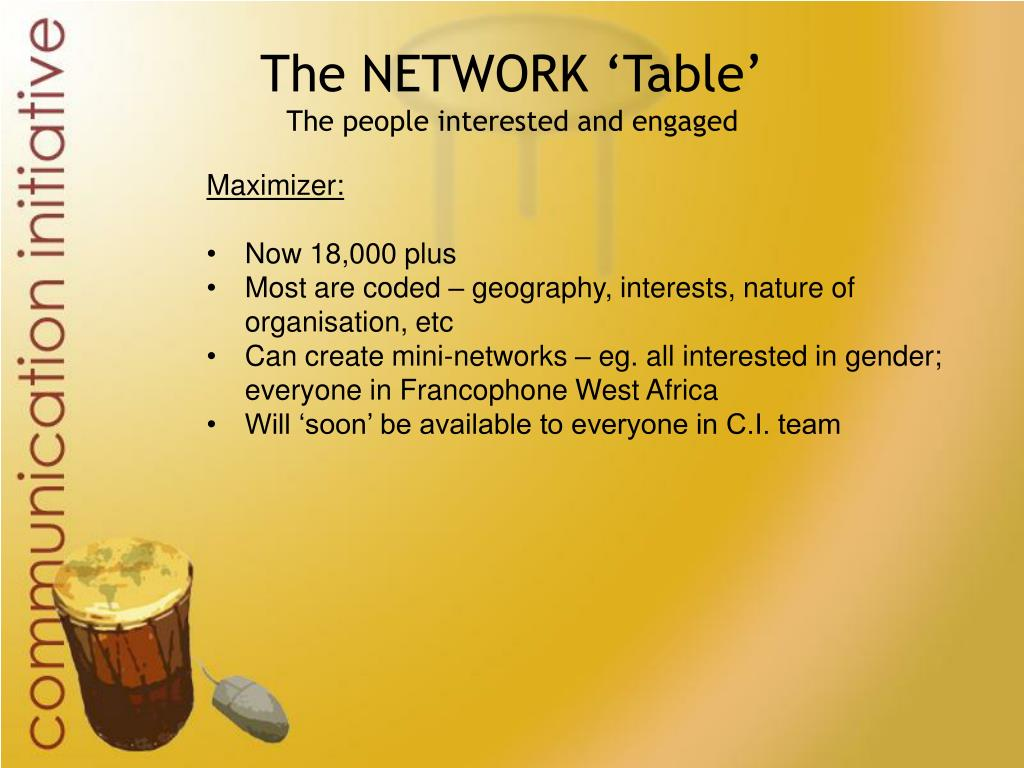 The NETWORK 'Table'