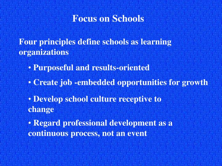 Focus on Schools