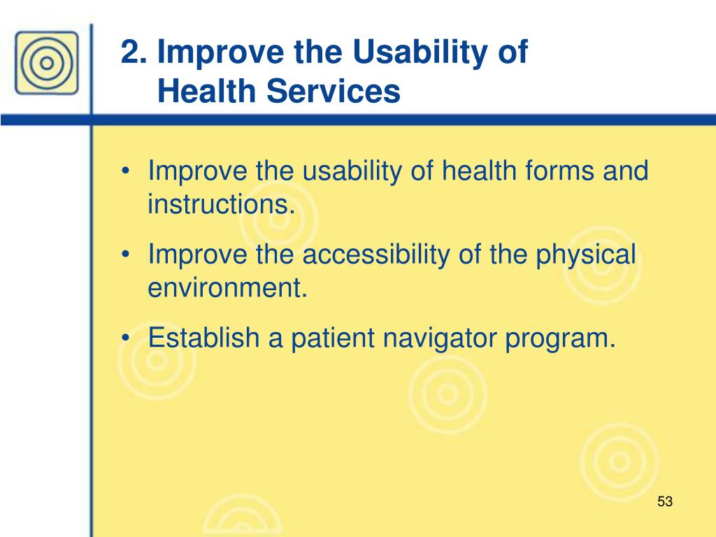 2. Improve the Usability of