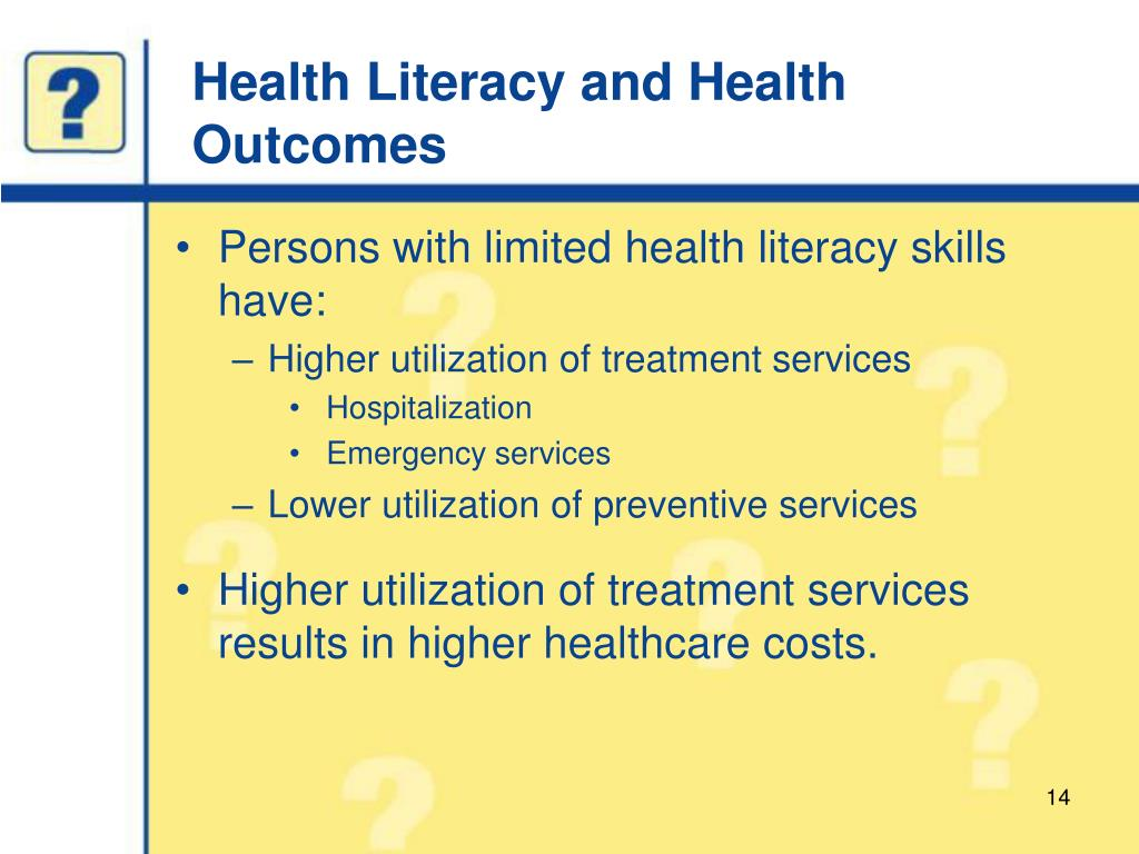 Health Literacy and Health Outcomes