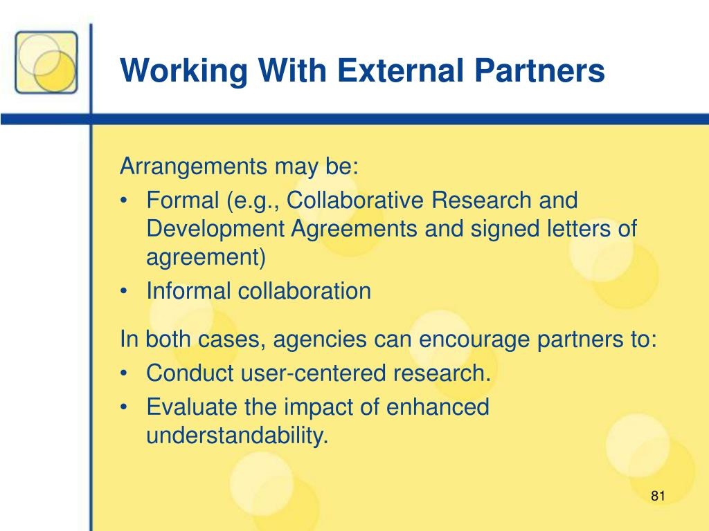 Working With External Partners