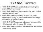 hiv 1 naat summary