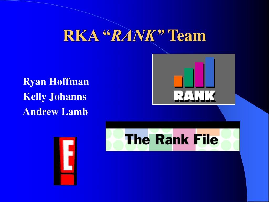 """RKA """""""