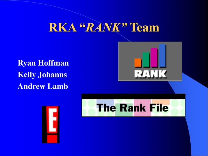 Rka rank team