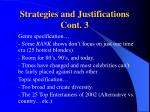 strategies and justifications cont 3